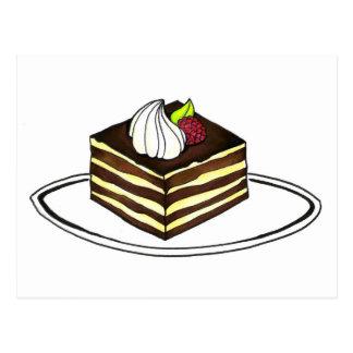 Tiramisu Dessert Italian Bakery Foodie Italy Food Postcard