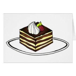 Tiramisu Italian Pastry Chocolate Cake Card