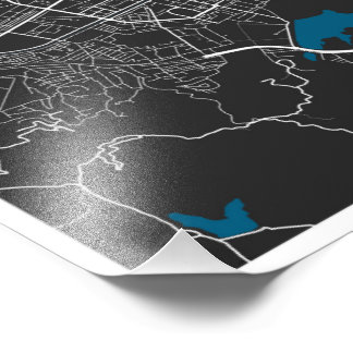 Tirana City Map Photo Print