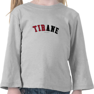 Tirane in Albania national flag colors Tees