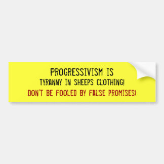 Tiranía en ropa de las ovejas etiqueta de parachoque