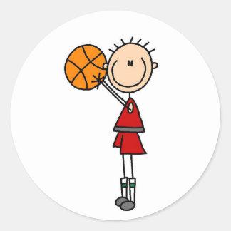 Tirar al pegatina del baloncesto