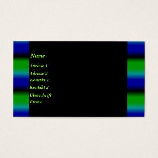 Tiras abstractas de arco iris en azul verde negro tarjetas de visita