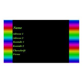 Tiras abstractas de arco iris tarjetas de visita