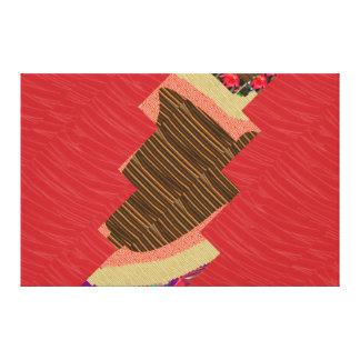 Tiras ARTÍSTICAS de la tela de seda roja: Gráficos Impresiones En Lienzo Estiradas