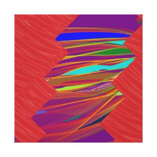 Tiras ARTÍSTICAS de la tela de seda roja: Gráficos Impresiones De Lienzo