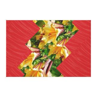 Tiras ARTÍSTICAS de la tela de seda roja: Gráficos Lienzo Envuelto Para Galerias