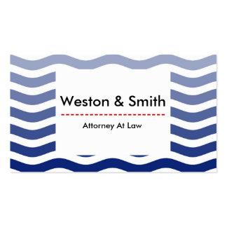 Tiras azules rojas del blanco de la tarjeta de tarjetas de visita