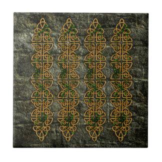 Tiras célticas del nudo azulejo