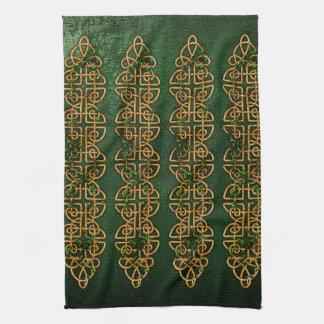 Tiras célticas del nudo toalla de cocina