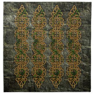 Tiras célticas del nudo servilletas de papel