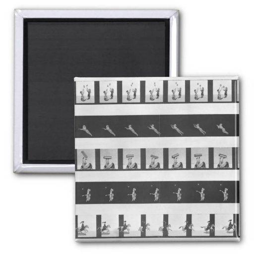 Tiras de la imagen para un praxinoscope imán cuadrado