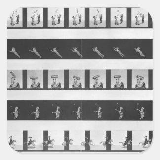 Tiras de la imagen para un praxinoscope pegatina cuadrada