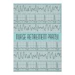 Tiras de las invitaciones EKG del fiesta de retiro Comunicado Personal