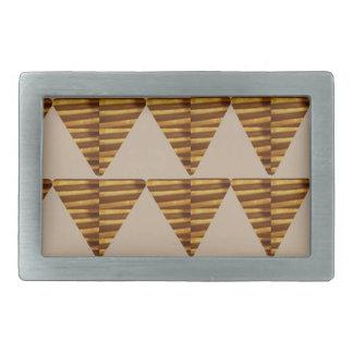 TIRAS DE ORO del triángulo: de arte del VINTAGE Hebillas De Cinturon Rectangulares