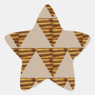 TIRAS DE ORO del triángulo: de arte del VINTAGE Pegatina En Forma De Estrella