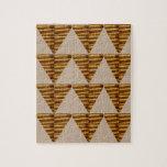 TIRAS DE ORO del triángulo: de arte del VINTAGE Rompecabezas