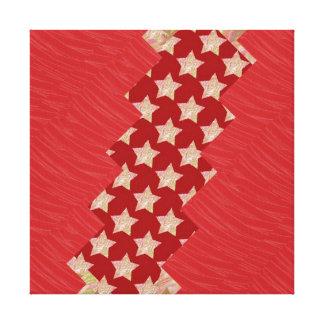 Tiras de seda rojas de Goldstar de la tela: Gráfic Lona Estirada Galerías