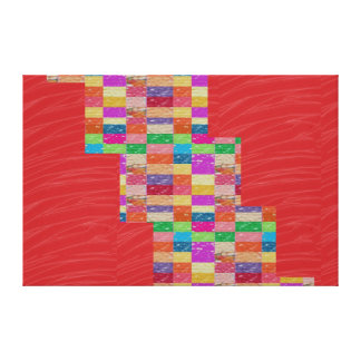 Tiras de seda rojas de la CHISPA de la tela: Gráfi Impresión En Lona Estirada