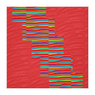Tiras de seda rojas de la CHISPA de la tela: Gráfi Lona Envuelta Para Galerías