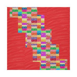 Tiras de seda rojas de la CHISPA de la tela: Gráfi Impresiones De Lienzo