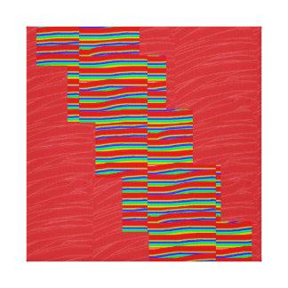 Tiras de seda rojas de la CHISPA de la tela: Gráfi Impresiones En Lienzo Estiradas