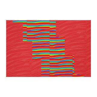 Tiras de seda rojas de la CHISPA de la tela: Impresiones En Lona