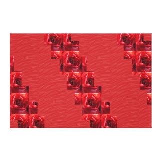 Tiras de seda rojas de la FLOR de la tela: Gráfico Impresión En Lona Estirada