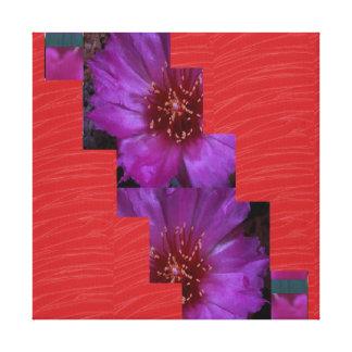 Tiras de seda rojas de la FLOR de la tela: Gráfico Lienzo Envuelto Para Galerias