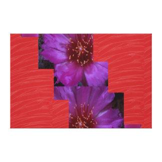 Tiras de seda rojas de la FLOR de la tela: Impresiones En Lienzo Estiradas