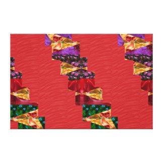 Tiras de seda rojas del ARTE de la tela: Gráficos  Impresión En Tela
