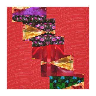 Tiras de seda rojas del ARTE de la tela: Gráficos  Lona Estirada Galerías