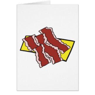 tiras de tocino tarjeta de felicitación