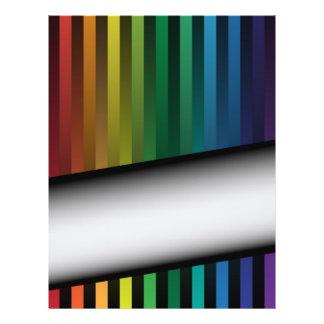 "Tiras del arco iris folleto 8.5"" x 11"""