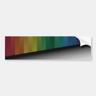 Tiras del arco iris pegatina para auto