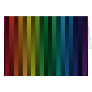 Tiras del arco iris tarjeta de felicitación