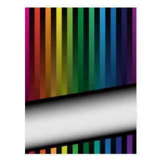 Tiras del arco iris tarjeta postal