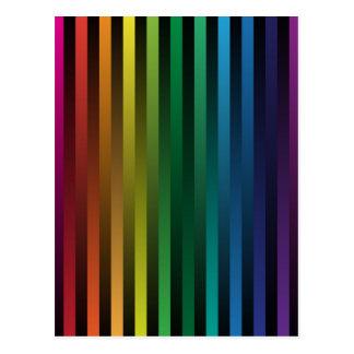 Tiras del arco iris tarjetas postales
