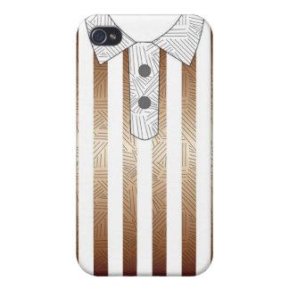 Tiras marrones del caso del iphone de Coll iPhone 4 Carcasa