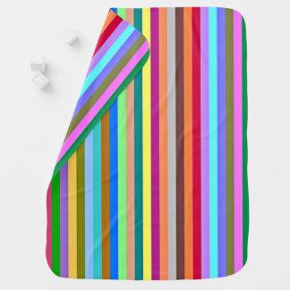 Tiras multicolores mantas de bebé