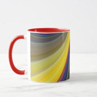 Tiras multicolores taza