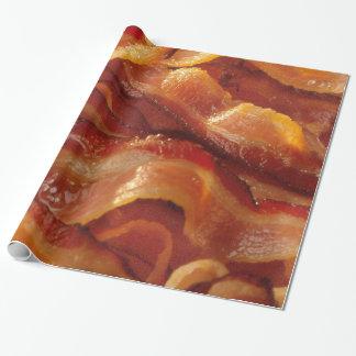 Tiras que chisporrotean calientes de tocino papel de regalo