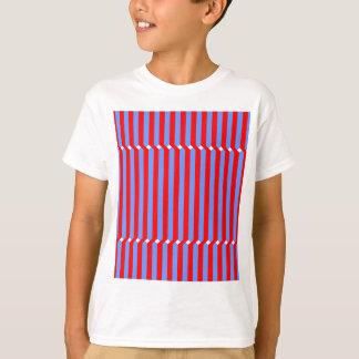 Tiras rojas azules de stripes hablas blue playera