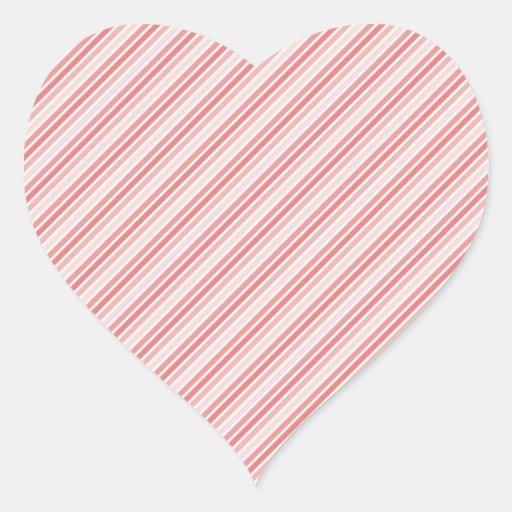 tiras rojas del rosa pegatina en forma de corazón