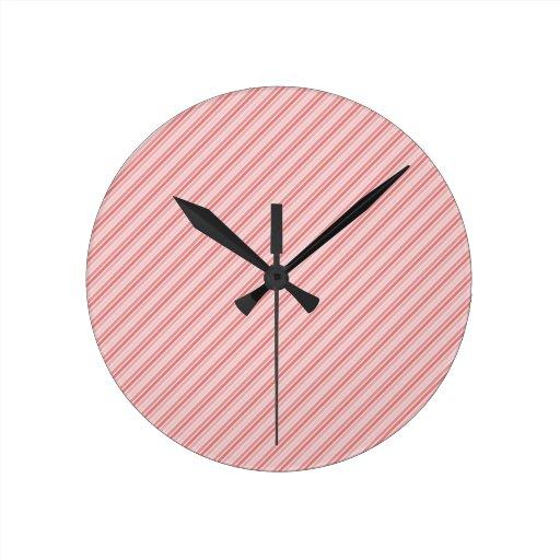tiras rojas del rosa reloj de pared