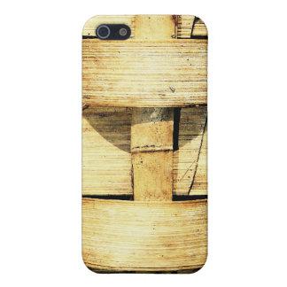 Tiras tejidas del bambú - antorcha de Tiki iPhone 5 Carcasa