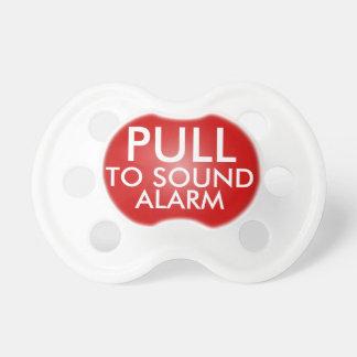 Tire a la alarma de los sonidos, pacificador diver chupetes para bebés