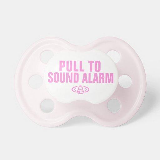 Tire a la alarma de los sonidos - rosa chupete de bebé