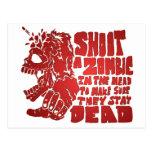 Tire a un zombi en la cabeza postal