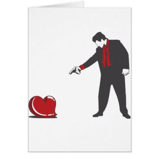 Tire abajo el amor tarjeta de felicitación